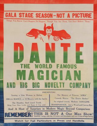 Dante The World Famous Magician And His Big Novelty Company