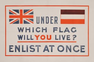 Under Which Flag Will You Live? Enlist At Once [WWI