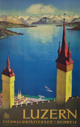 Luzern [Lake Lucerne, Switzerland]. Otto Landolt, 1889–1951 Swiss