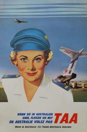When In Australia, Fly Trans Australia Airlines. Ralph M. Warner, 1902–1966 Aust
