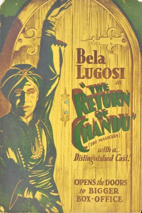 "Bela Lugosi In ""The Return Of Chandu"" [Cinema Press Pack"