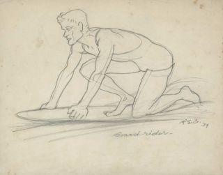 Surf Lifesaver and Surfboard Rider]. Robert Emerson Curtis, 1898–1996 Australian