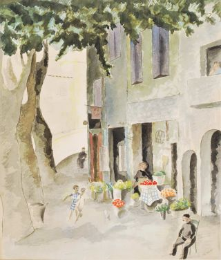European Street Scene]. Edith Wall, 1904–2012 NZ/Aust