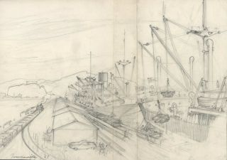 Townsville [Queensland, Shipping Port]. Robert Emerson Curtis, 1898–1996 Aust