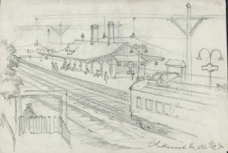 Chatswood Railway Station [NSW]. Robert Emerson Curtis, 1898–1996 Aust