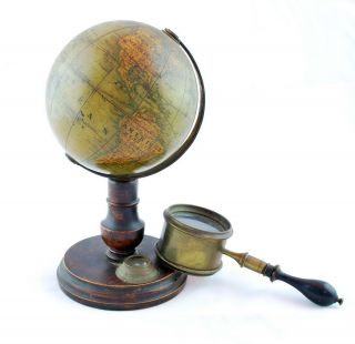 """La Terre"" Four-Inch Desktop Globe With Stand"