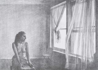 Woman Watching Curtain. Brian Dunlop, 1938–2009 Aust