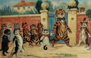 The Good Puss and The Naughty Puss. After Louis Wain, 1860–1939 British