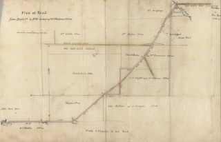 Plan Of Road From Dapto [Creek] To NW Corner Of W.F. Weston's 500 Acres [NSW
