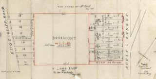Tracing Plan Of Rosemont, Near Double Bay [NSW