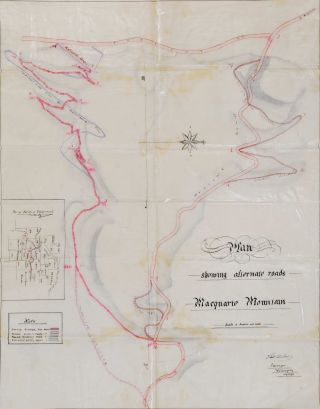 Plan Showing Alternate Roads, Macquarie Mountain [South Coast, NSW