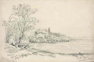 Point Piper Near Rose Bay [NSW]. Rosalie Ann Thorne . After Conrad Martens,...