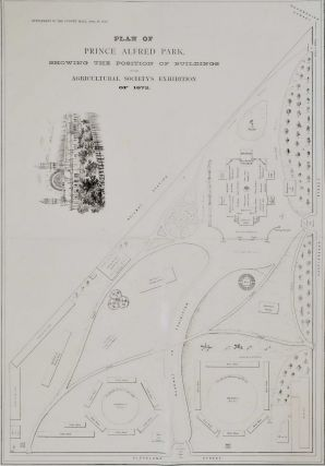 Plan Of Prince Alfred Park Showing The Position Of Buildings For The Agricultural Society's...
