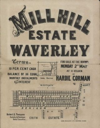 Mill Hill Estate, Waverley [NSW