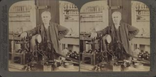 The Most Famous Inventor Of The Age, Thomas A. Edison In His Laboratory, East Orange, NJ, USA
