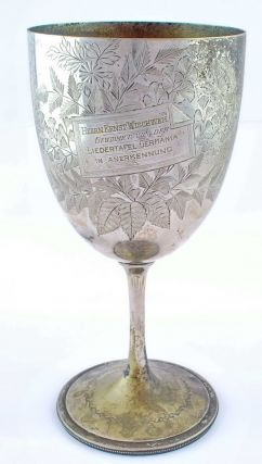 "Commemorative Cup For President Wischweh Of ""Liedertafel Germania"" Club, Sydney"