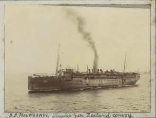 "WWI Life Aboard HMAT ""Euripides"" Carrying Australian Troops To Egypt"