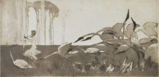 The Spirit Of The Plains. Sydney Long, 1871–1955 Aust