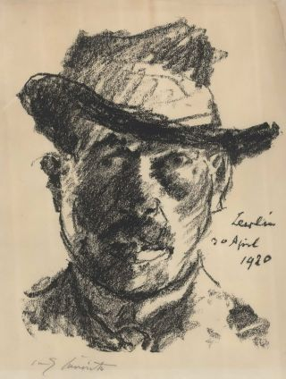 Self-Portrait. Lovis Corinth, 1858–1925 German