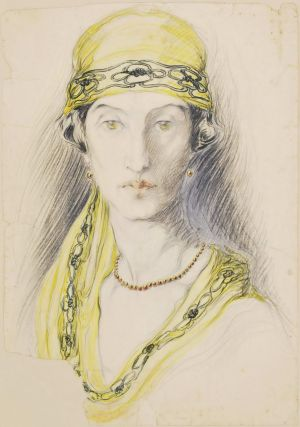 Art Nouveau Woman With Hat]. Margaret E. Campbell, 1891–1963 Australian