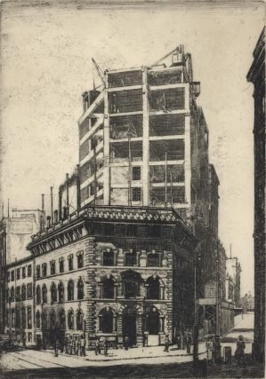 "Office Of ""The Sydney Morning Herald"" [Under Construction]. Sydney Ure Smith, 1887–1949..."