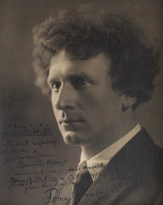 Composer Percy Grainger Autograph