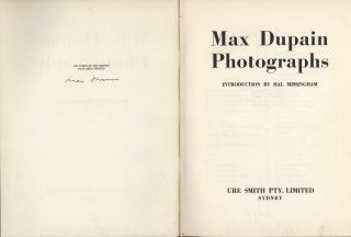 Max Dupain Photographs [Book]