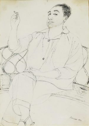 Man Seated On Settee. Giacomo Porzano, 1925–2006 Italian