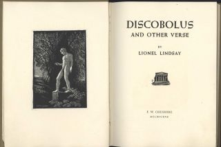 Discobolus And Other Verse [Book]. Lionel Lindsay, 1874–1961 Aust