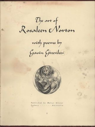 The Art Of Rosaleen Norton: With Poems By Gavin Greenlees [Book