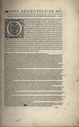 Nicomachean Ethics [By Aristotle]. John Argyropoulos, c1415–1487 Greek