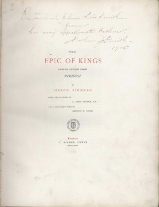 The Epic Of Kings: Stories Retold From Firdusi [Book]
