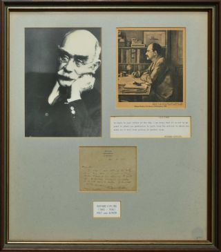 Rudyard Kipling, Poet And Author