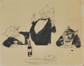 "Three ""Fat Cats""]. Norman Lindsay, 1879–1969 Aust"