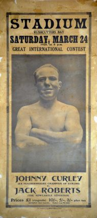 Johnny Curley. Ex Featherweight Champion Of Europe [Versus] Jack Roberts, The Newcastle Sensation