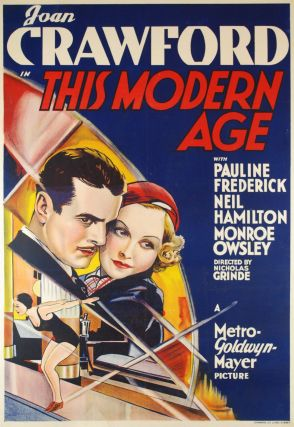 "Joan Crawford In ""This Modern Age"" [Australian Release"