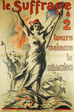 Le Suffrage A 2 Tours Vaincra La Reaction. Josue Gaboriaud, 1883–1955 French