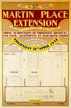 Martin Place Extension. First Subdivision Of Freehold Residues And Four Allotments In Elizabeth...