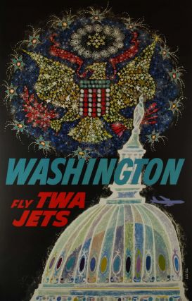 Washington. Fly TWA Jets. David Klein, 1918–2005 Amer