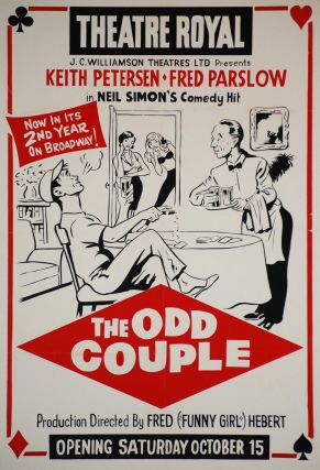 """The Odd Couple"", Theatre Royal [Play"