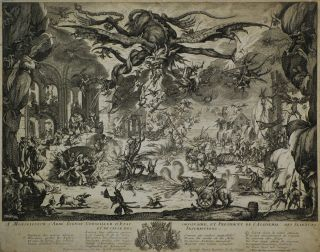 La Tentation De Saint Antoine. After Jacques Callot, c1592–1635 French