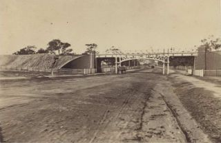 Railway Bridge On The St Kilda Road [South Melbourne