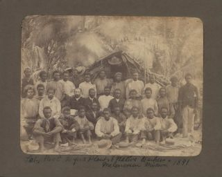 Late Reverend [John] Hartford Plant And Native Teachers, Melanesian Mission