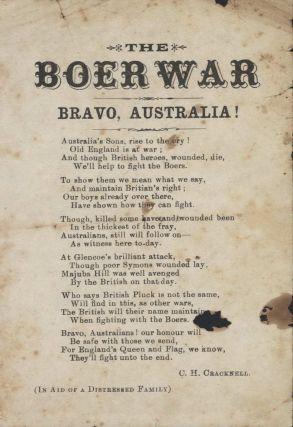 """The Boer War. Bravo, Australia!"" [Poem"