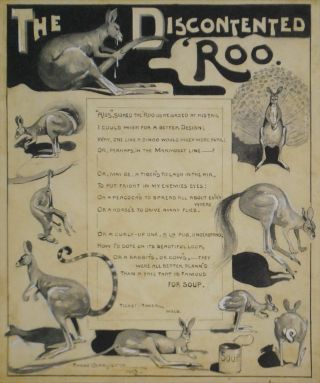 """The Discontented 'Roo"" [Poem]. Harry Garlick, 1878–1910 Aust"