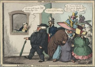 New Panorama…A Startling Interrogation, [Emigration]. William Heath, 1795–1840 British