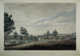 View Of The Country And Of The Temporary Erections Near The Site For The Proposed Town Of...