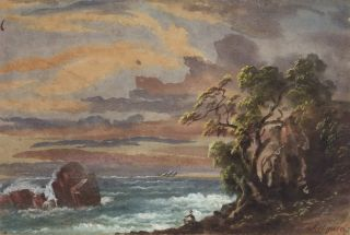 NSW Coast With Seated Figure]. Samuel Elyard, 1817–1910 Aust