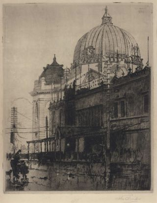 The Dome, Flinders Street Station [Melbourne]. John Shirlow, 1869–1936 Aust